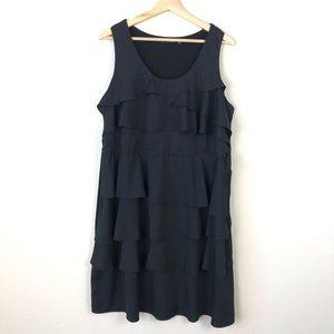 Apt. 9 Black Tiered Ruffle Sleeveless Dress